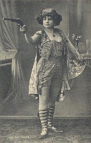 Elly del Sarto; from a c. 1910 postcard.