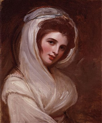 Emma, Lady Hamilton, by George Romney (died 18...