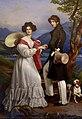 Engagement portrait of Duke Maximilian Joseph in Bavaria and Princess Ludovika of Bavaria.jpg