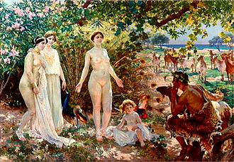 Trojan War - The Judgment of Paris (1904) by Enrique Simonet