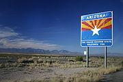 Entering Arizona on I-10 from New Mexico