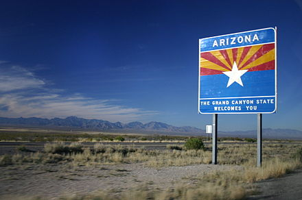 Entering Arizona on I-10 Westbound.