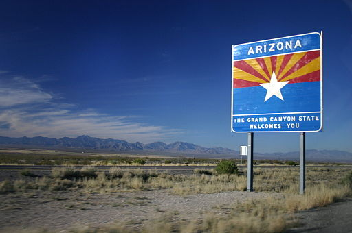 Entering Arizona on I-10 Westbound