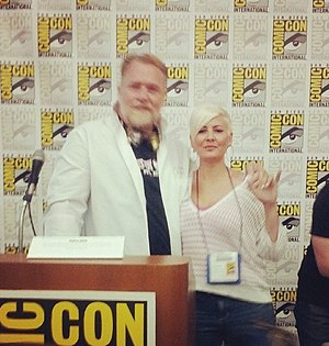Erin Fitzgerald - Fitzgerald (right) with Monster High producer Audu Paden at the 2014 San Diego Comic-Con.