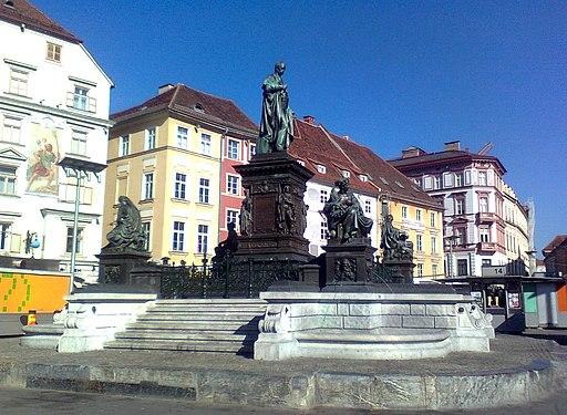 Erzherzog Johann Brunnen Grazer Hauptplatz