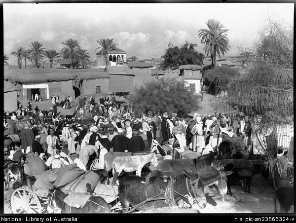 Esdud Fair (01) 1939 donkeys in foreground