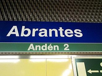 Abrantes (Madrid Metro) - Image: Estación de Abrantes, Carabanchel