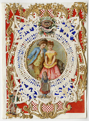 "Esther Howland - Esther Howland Valentine card, ""Affection"" ca. 1870s"