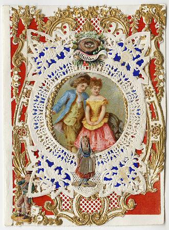 "Esther Howland - Esther Howland Valentine card, ""Affection"" ca. 1870s"