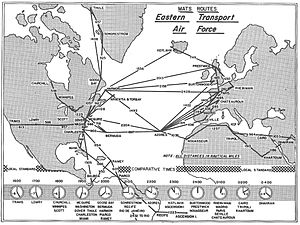 Military Air Transport Service - Routes of the Eastern Transport Air Force, 1964