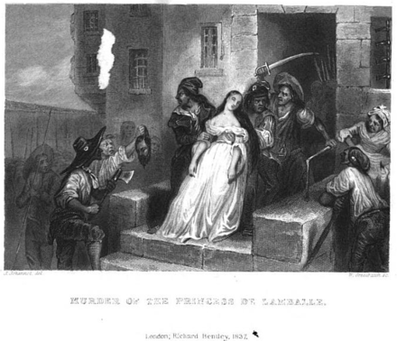 The murder of Lamballe - Princess Marie Louise of Savoy