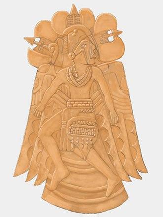 Warren K. Moorehead - Etowah Dancing Warrior copper plate