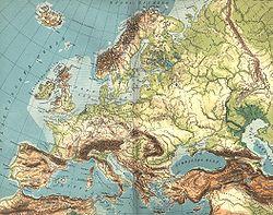 Carte Europe Relief Et Fleuves.Geographie De L Europe Wikipedia