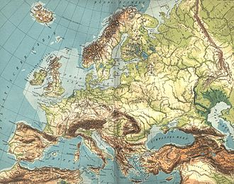European Plain - Topography of Europe