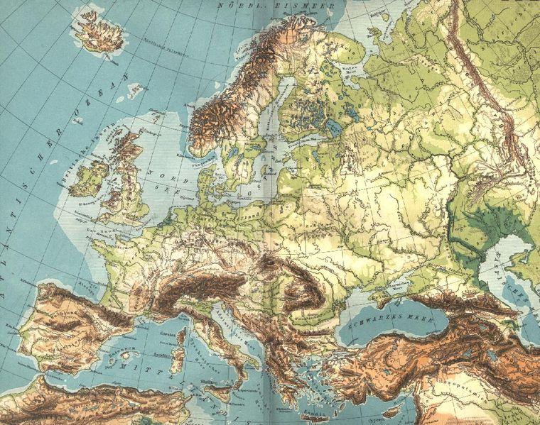 carte géographique de l europe File:Europe geographique grande.   Wikimedia Commons