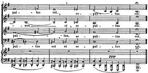 Augmented sixth chord - Image: Excerpt from Bach's Mass in B Minor