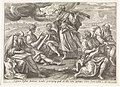 Ezra drinkt de beker van kennis en wijsheid Visioenen van Ezra (serietitel) Theatrum biblicum (..) (serietitel), RP-P-OB-9365.jpg