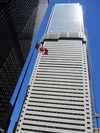 First Canadian Place - New cladding being installed in 2011