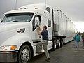FEMA - 39317 - FEMA's Richard Hainje talks to a truck driver in Kansas.jpg