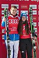 FIS Ski Cross World Cup 2015 Finals - Megève - 20150314 - Sergei Ridzik et Deborah Pixner Rookies of the year.jpg