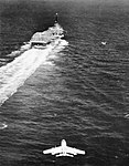 FJ-3 Fury approaches USS Randolph (CVA-15), circa in 1957.jpg