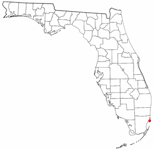 Fisher Island, Florida - Image: FL Map doton Fisher Island
