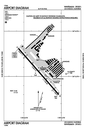Whiteman Airport - Image: Facility diagram of Whiteman Airport (KWHP)