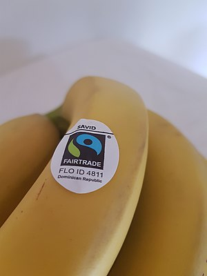 Fair trade - Fairtrade bananas from The Dominican Republic