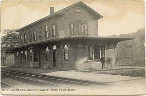 Fairmount (MBTA station) - Early postcard of Fairmount station