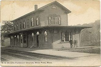 Fairmount station (MBTA) - Early postcard of Fairmount station