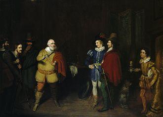 George Clint - Falstaff relating his valiant exploits, c. mid–1830s