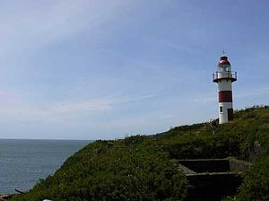 Niebla, Chile - Picture of Niebla's lighthouse situated just above the Niebla fort