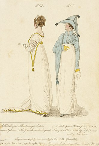 Spencer (clothing) - Image: Fashion Plate (the Roxborough Jacket A New Spencer Walking Dress with the Incognita Hat) LACMA M.86.266.62