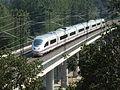 Fast Train Spain Class 103 AVE Siemens Bridge Macanet-Massanes.JPG