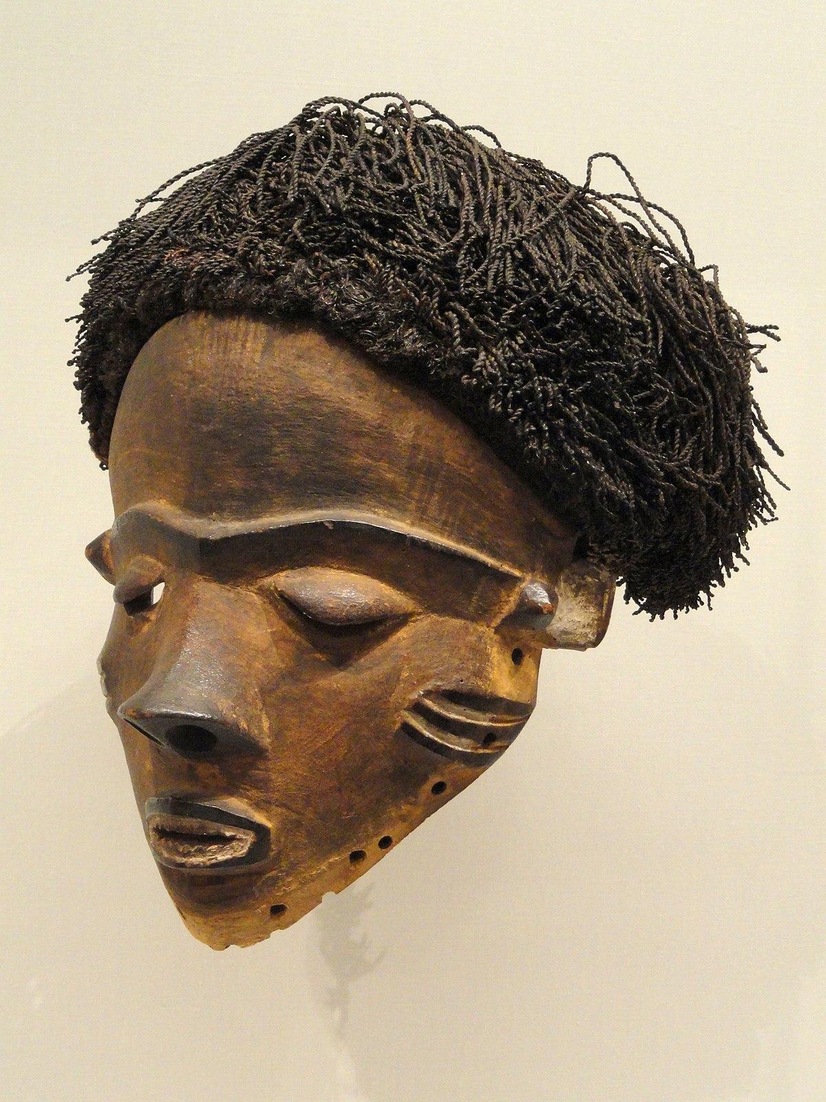 File:Female Face Mask (Gambanda), early 1900s, Central