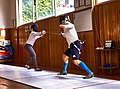 Fencing in Greece. Fencing training at Athenaikos Fencing Club.jpg