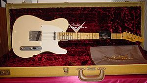 Relayer - Howe's main guitar on Relayer is a 1955 Fender Telecaster, similar to this one, which marked a departure from his usual Gibson ES-175.