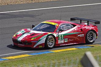 Toni Vilander - Image: Ferrari 458 GTC AF Corse Le Mans 2012