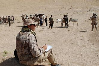 Augusto Ferrer-Dalmau - Ferrer-Dalmau taking notes in Afghanistan.