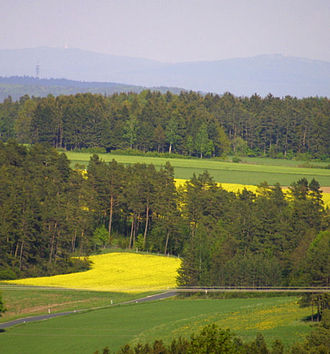 Fichtel Mountains - Characteristic landscape in the Fichtel Mountains