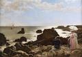 Figuras junto às rochas a observar o mar (1903) - Ernesto Condeixa.png