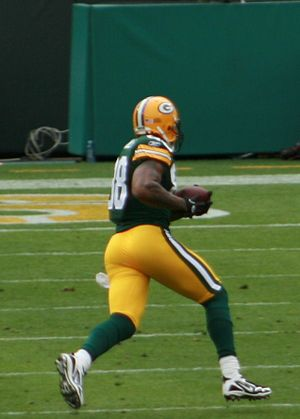 English: Jermichael Finley, tight end for the ...
