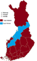 Finnish presidential election results (second round) by province, 2006.png
