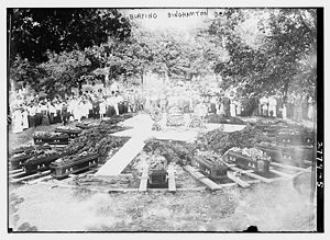 1913 Binghamton Factory fire - Burial of victims of the fire