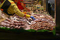 Fish stall at Barcelona market (2929352111).jpg