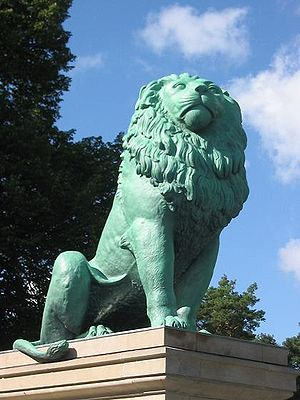 Isted Lion - The zinc copy in Berlin. Picture taken following its restoration in 2005.