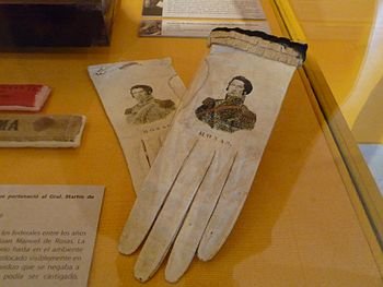 Flickr - bastique - Evening gloves with image of Juan Manuel de Rosas