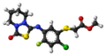 Fluthiacet-methyl molecule ball.png