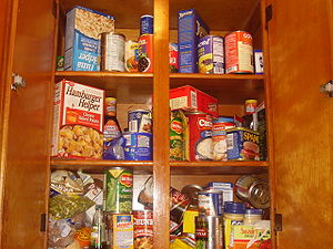 Food on shelf