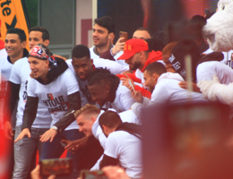 Footballers of Stade Rennais Football Club celebrating their victory of Coupe de France in Rennes, April 28th, 2019.png